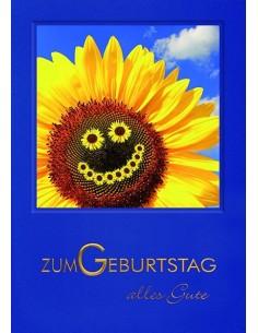 Geburtstagskarte-lachende Sonnenblume