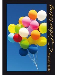 Format A5 Blauer Himmel, farbige Ballons