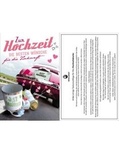 Hochzeitskarte-Auto-Justmaried