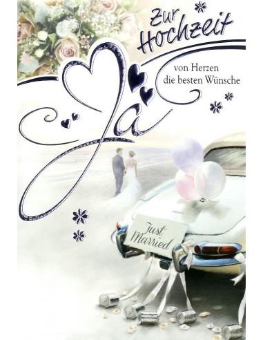 Hochzeitskarte Von Herzen Die Besten Wunsche