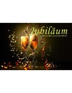 Jubiläumskarten-Champagnergläser