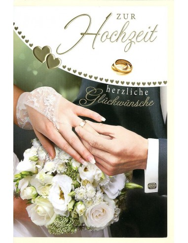 Hochzeitskarte- Zur Hochzeit herzliche Glückwünsche