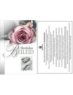 Trauerkart-Rose und Statue