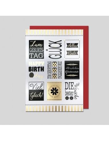Geburtstagskarte-Verschiedene Schriften