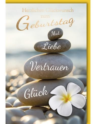 Geburtstagskarte - Steinturm