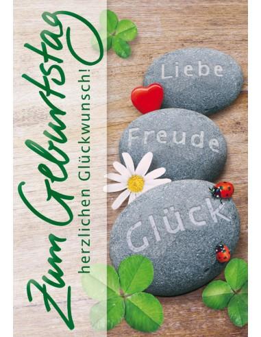 Geburtstagskarte - Steine - Liebe...