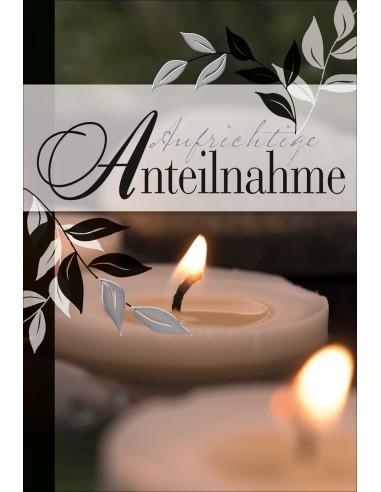 Trauerkarte - Aufrichtige Anteilnahme...