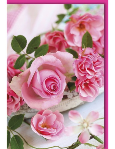 Glückwunschkarte ohne Text - Rosen