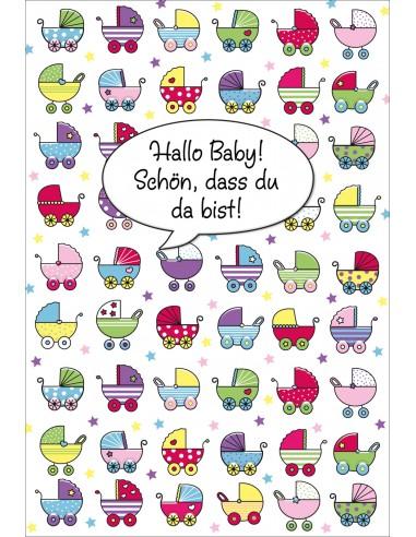 Geburtskarten -diverse Kinderwagen