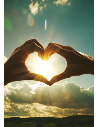 Glückwunschkarte ohne Text - Hand Herz