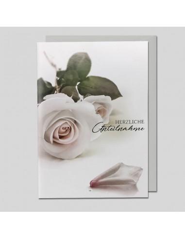 Trauerkarte - Herzliche Anteilnahme,...