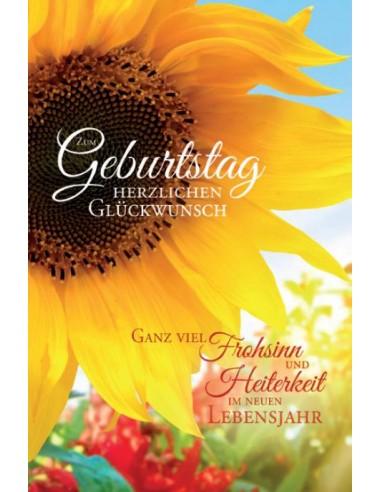 Geburtstagskarte Zum Geburtstag Herzlichen Glückwunsch Sonnenblume
