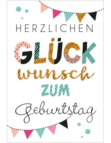 Geburtstagskarte - Herzlichen...
