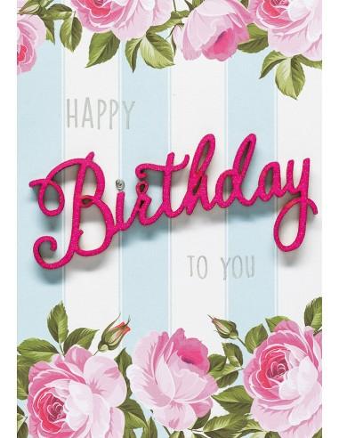 Geburtstagskarte - Happy Birthday