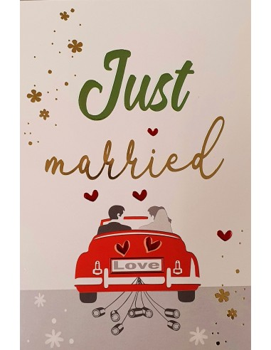 Hochzeitskarte - Just married
