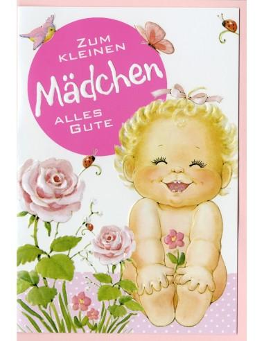 Geburt-Mädchen mit Rosen