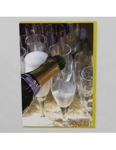Champagner und Gläser